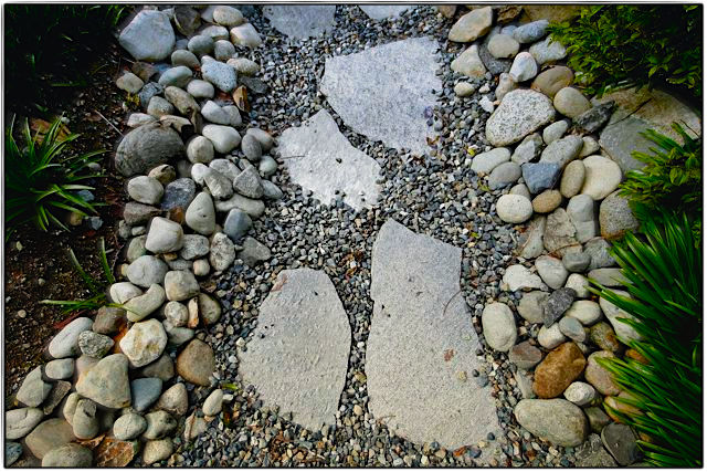 Persnickety stone and gravel path