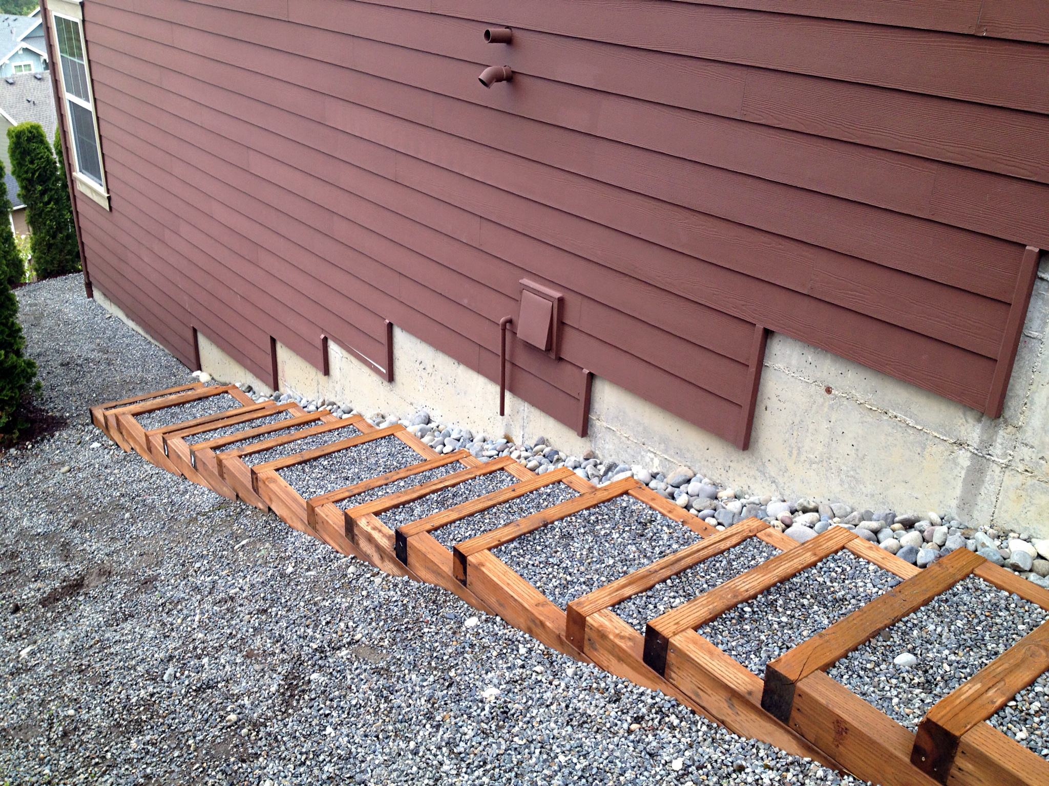 Persnickety gravel steps