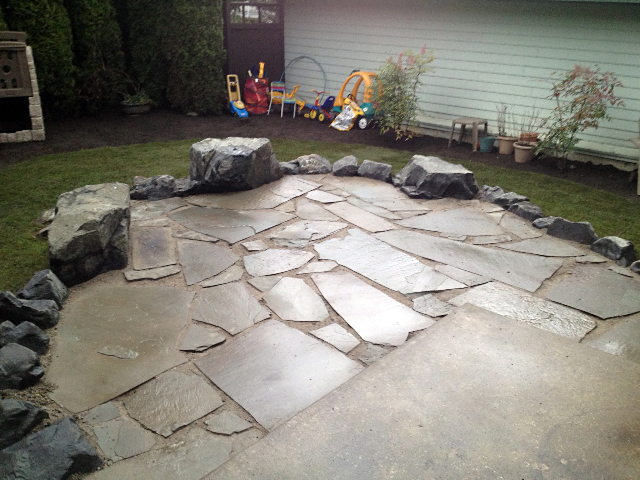 Persnickety stone patio