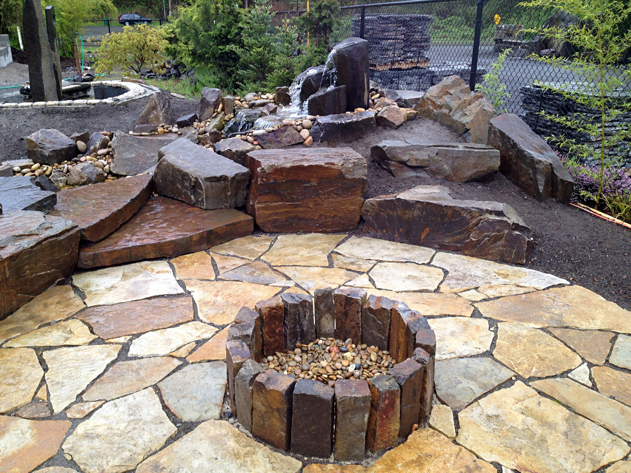 Persnickety stone fire pit