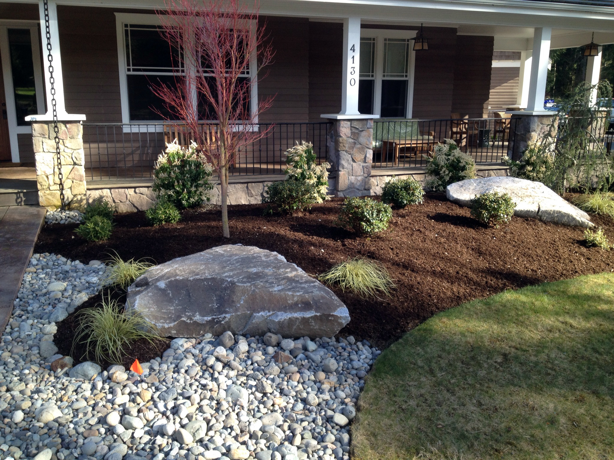Persnickety landscaped yard