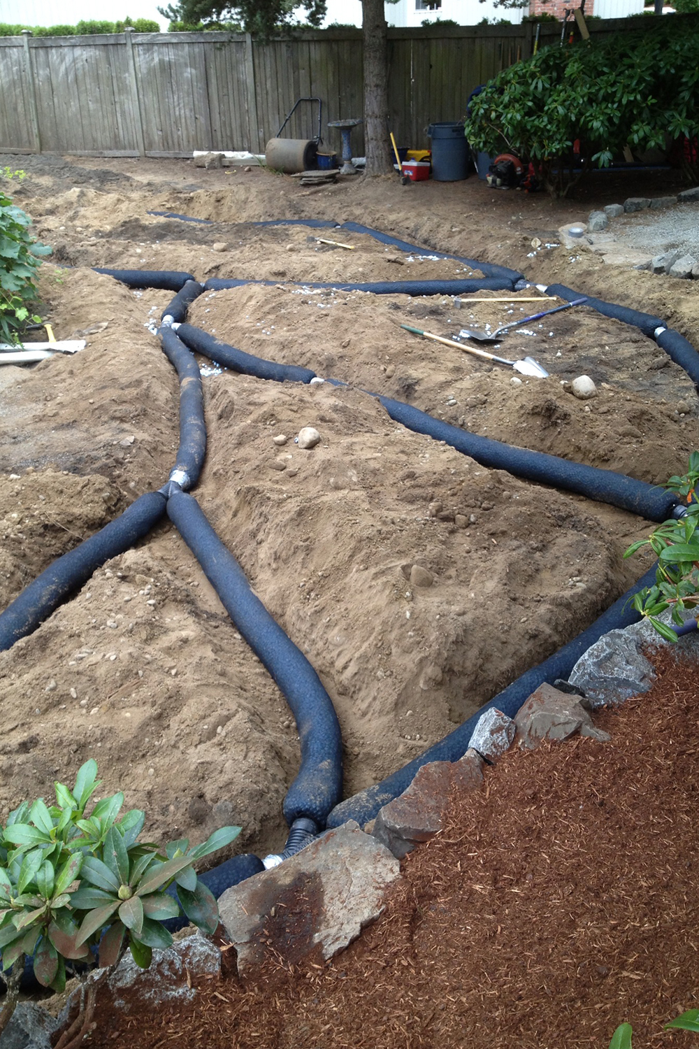 Persnickety irrigation in progress