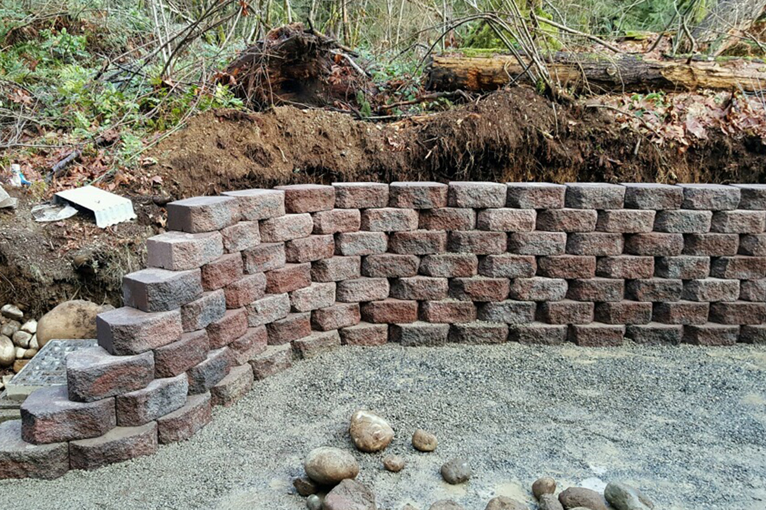 Persnickety retaining wall