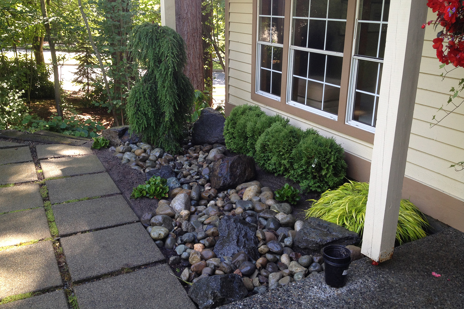 Persnickety stonework landscaping