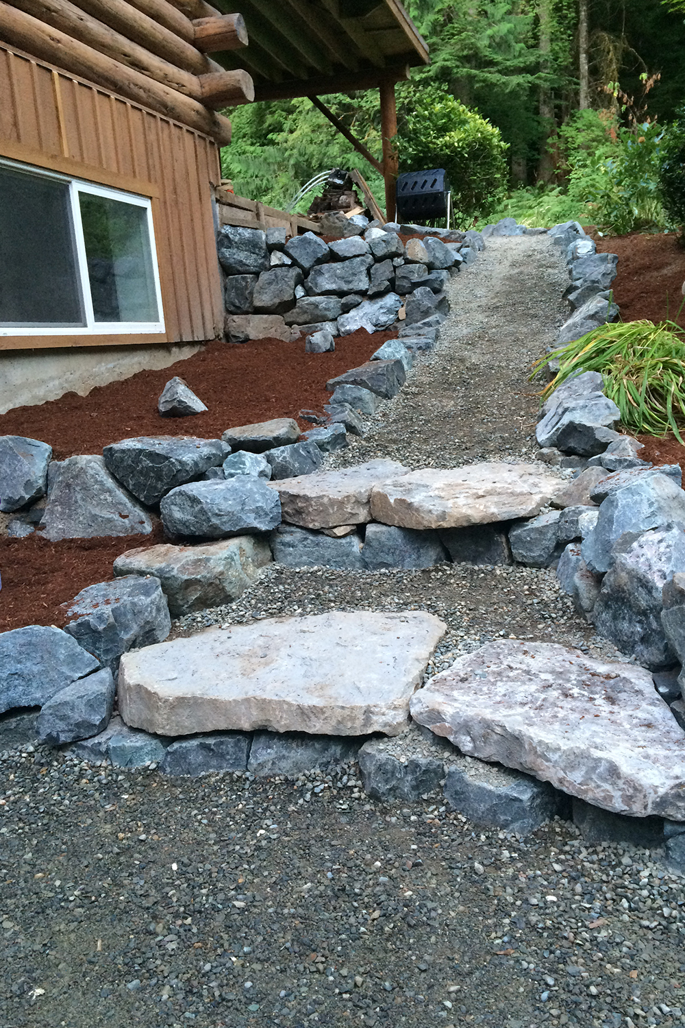 Persnickety landscaping and stonework