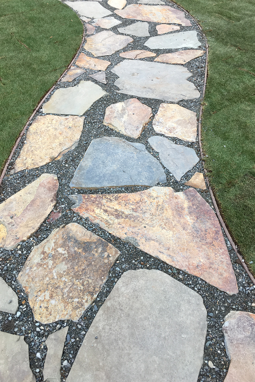 Persnickety stone pathway